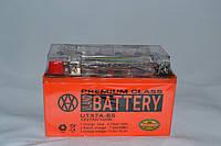 Аккумулятор 12V 7Ah гелевый с датчиком (150х87х94) UTX7A-BS (оранжевый) BATTERY