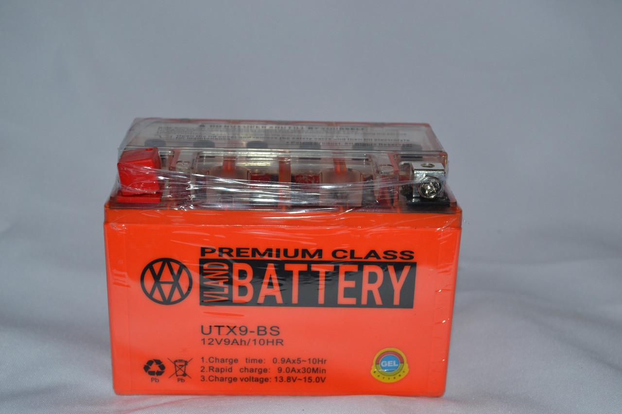 Акумулятор 12V 9Ah гелевий (150х87х107) UTX9-BS (помаранчевий) BATTERY