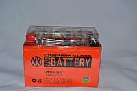 Акумулятор 12V 9Ah гелевий (150х87х107) UTX9-BS (помаранчевий) BATTERY, фото 1