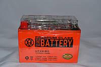 Аккумулятор 12V 9Ah гелевый с датчиком (150х87х107) UTX9-BS (оранжевый) BATTERY