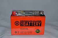 Аккумулятор 12V 9Ah гелевый с цифровым вольтметром (150х87х107) UTX9-BS (оранжевый) BATTERY