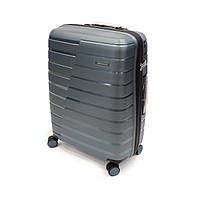 Большой чемодан из полипропилена 105 л Snowball хвойно-зеленый