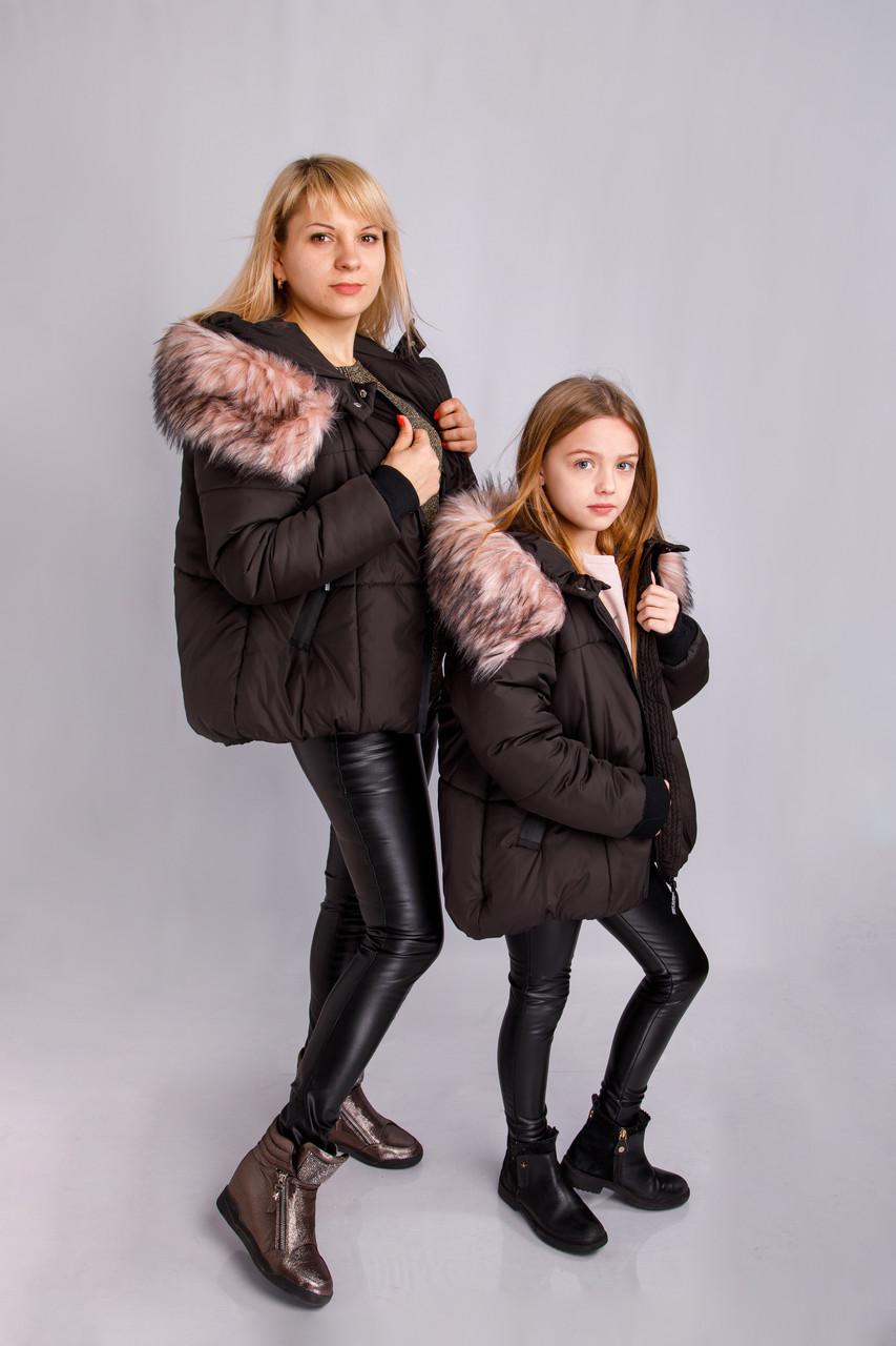 """Зимняя куртка на девочку """"Эмили"""" 128, 140, 158"""