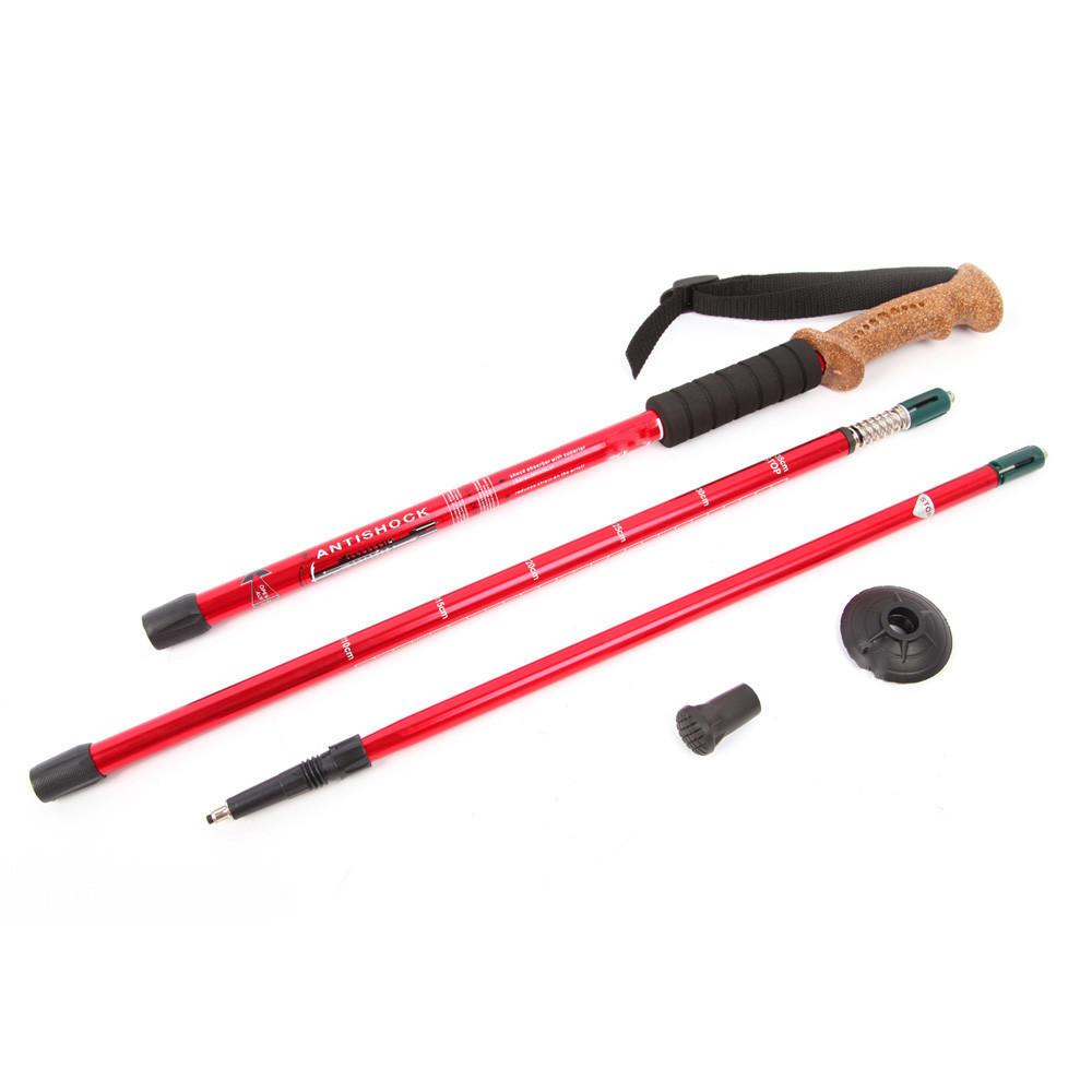Треккинговые телескопические палки для скандинавской ходьбы Red (gr007008), фото 1