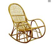 Плетеное кресло-качалка КК-4 ЧФЛИ из лозы