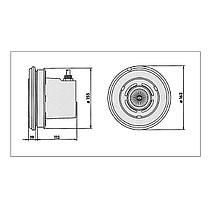 Прожектор галогенный Vagner Pool 823431 VA 50 Вт (под лайнер) с латунными вставками, фото 3