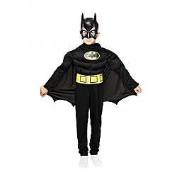 Детский карнавальный костюм БЭТМЕН с мышцами для мальчика 4,5,6,7,8,9 лет новогодние костюмы супергероев