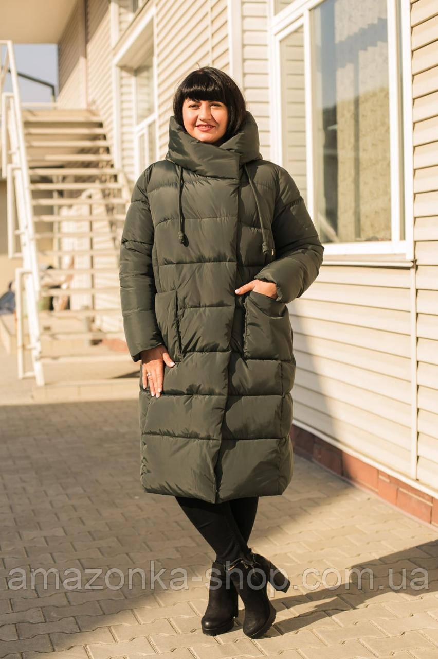Женское удлиненное пальто на зиму сезон 2020 - (модель кт-39)
