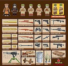 Военный конструктор, Артиллерия СССР 6 в 1  аналог Лего, фото 3