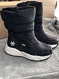 Чёрные дутики с мехом, сапоги зимние, фото 3