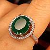Срібне кільце із зеленим кварцом - Жіноче срібне кільце з кварцом, фото 7