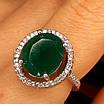 Срібне кільце із зеленим кварцом - Жіноче срібне кільце з кварцом, фото 6