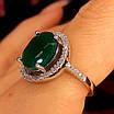 Серебряное кольцо с зеленым кварцем - Женское серебряное кольцо с кварцем, фото 2