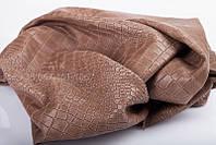 Кожа натуральная Bruschetta с тиснением Аллигатор бежевая