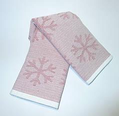 Набор полотенец кухонных Снежинки 50х70 махровые 2 шт
