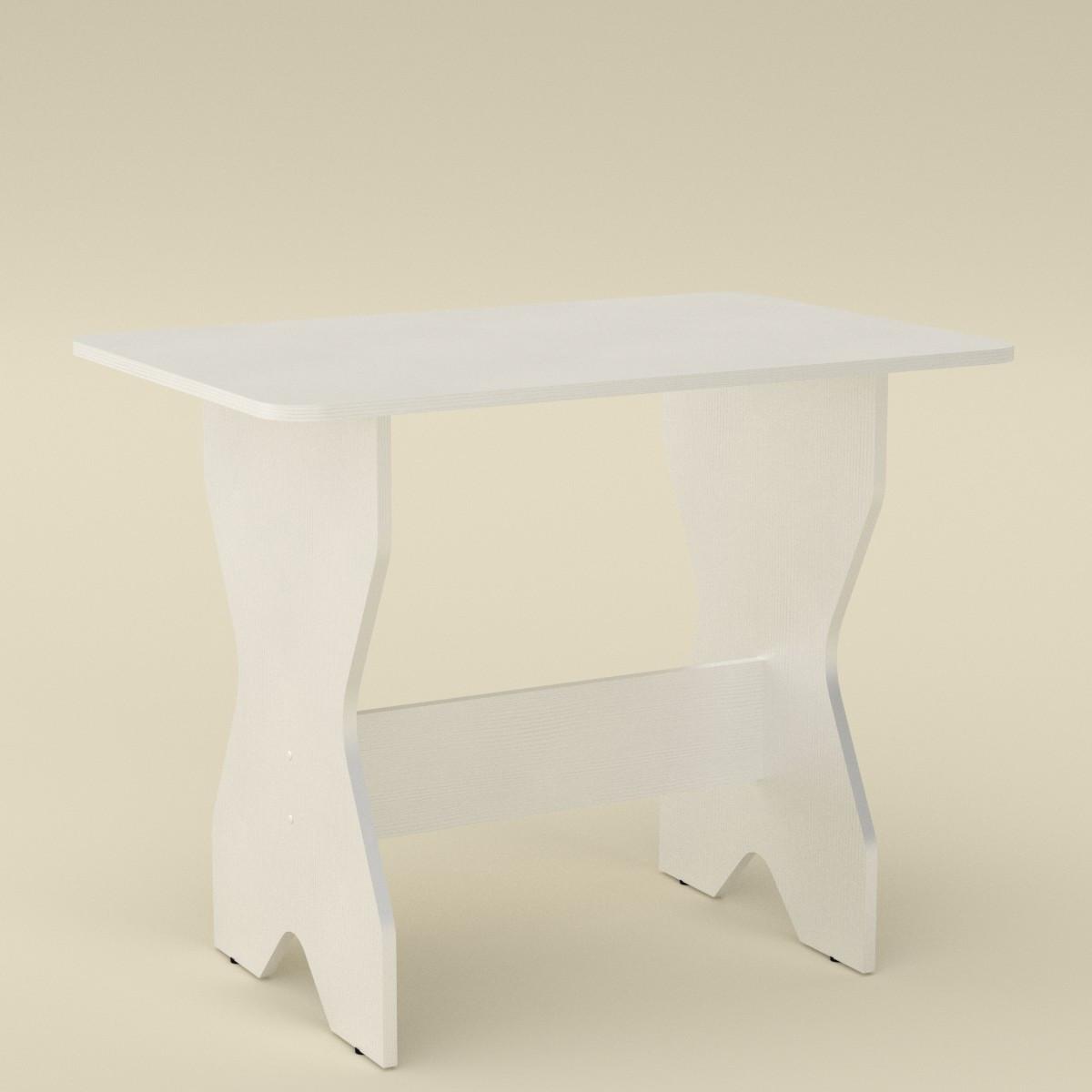 Стол кухонный КС-1 белый Компанит (90х59х72 см)