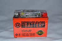 Аккумулятор 12V 4Ah гелевый с цифровым вольтметром (113х70х85) UTX4L-BS ( оранжевый ) BATTERY