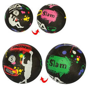 М'яч баскетбольний, розмір 5, гума, 2 кольори, VA-0050