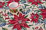 Скатертина гобеленова з люрексом Новорічна Іспанія Villa Grazia Premium Квітуче Різдво 160x360 см, фото 2