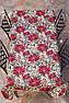 Скатертина гобеленова з люрексом Новорічна Іспанія Villa Grazia Premium Квітуче Різдво 160x360 см, фото 4