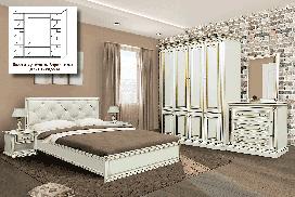 Спальня Мира Скай (комплект со шкафом 4Д)