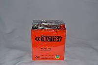Аккумулятор 12V 7Ah гелевый высокий (113х70х132) YTX7L-BS (оранжевый) BATTERY