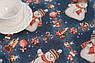 Раннер гобеленовий з люрексом Новорічний Іспанія Villa Grazia Premium Сніговики 45x140 см, фото 2