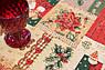 Раннер гобеленовий з люрексом Новорічна Іспанія Villa Grazia Premium Новорічні дзвіночки 40x100 см, фото 2