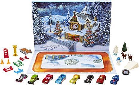 Різдвяний календар Hot Wheels Адвент календарь Хот Вилс , Hot Wheels рождественский календарь)