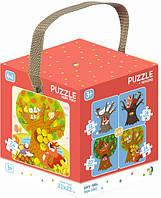 """Пазл DoDo 4в1 """"Времена года"""" 300125 Развивающие красивые пазлы для детей! Детская головоломка!"""