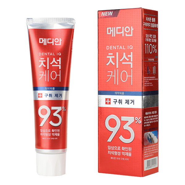 Зубная паста для снятия налета и отбеливания Median Dental Cosmetic Original 93% От зубного камня (красная)