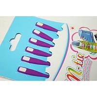 Шнурки обувные силиконовые 6шт фиолетовый SHC