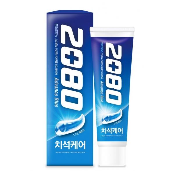 Отбеливающая зубная паста Aekyung 2080 Advance Blue Toothpaste Scrub Essence 120g
