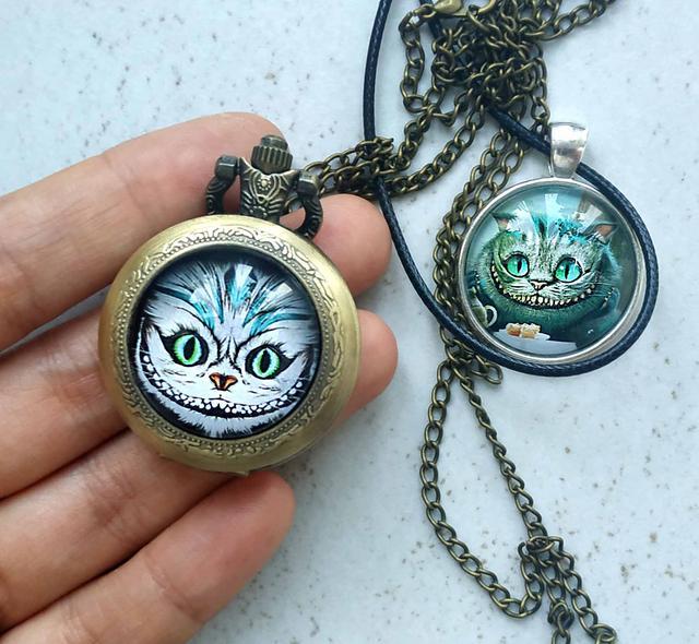 Карманные часы чеширский кот