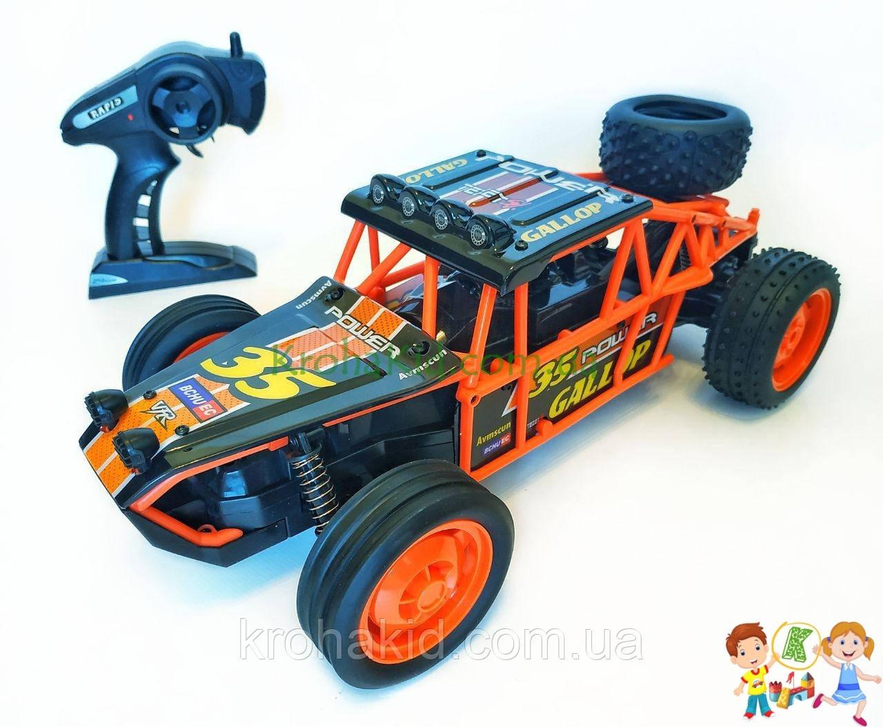 Спортивная машинка багги на радиоуправлении, аккумулятор, 2WD, резиновые колеса, плавный ход YED1702