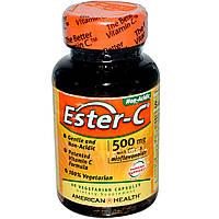 Витамин С (аскорбат), American Health, 500 мг, 60 таб.