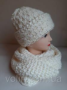 Женская тёплая шапка бини La Retto T-21.