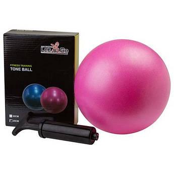 Мяч для йоги, пилатеса Let'sGo, PVC, d=20 см, розовый.