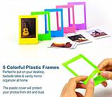 Набор: Камера моментальной печати Fujifilm Instax Mini 9 + Чехол, Линзы, Рамки, Альбом, Стикеры + 2x Пленки, фото 7