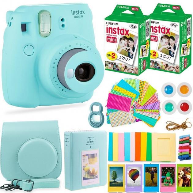 Набір: Камера моментальної друку Fujifilm Instax Mini 9 + Чохол, Лінзи, Рамки, Альбом, Стікери + 2x Плівки