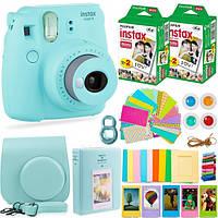 Набор: Камера моментальной печати Fujifilm Instax Mini 9 + Чехол, Линзы, Рамки, Альбом, Стикеры + 2x Пленки