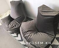 Велюровое кресло Босс с функцией Антикоготь. АКЦИЯ Серый