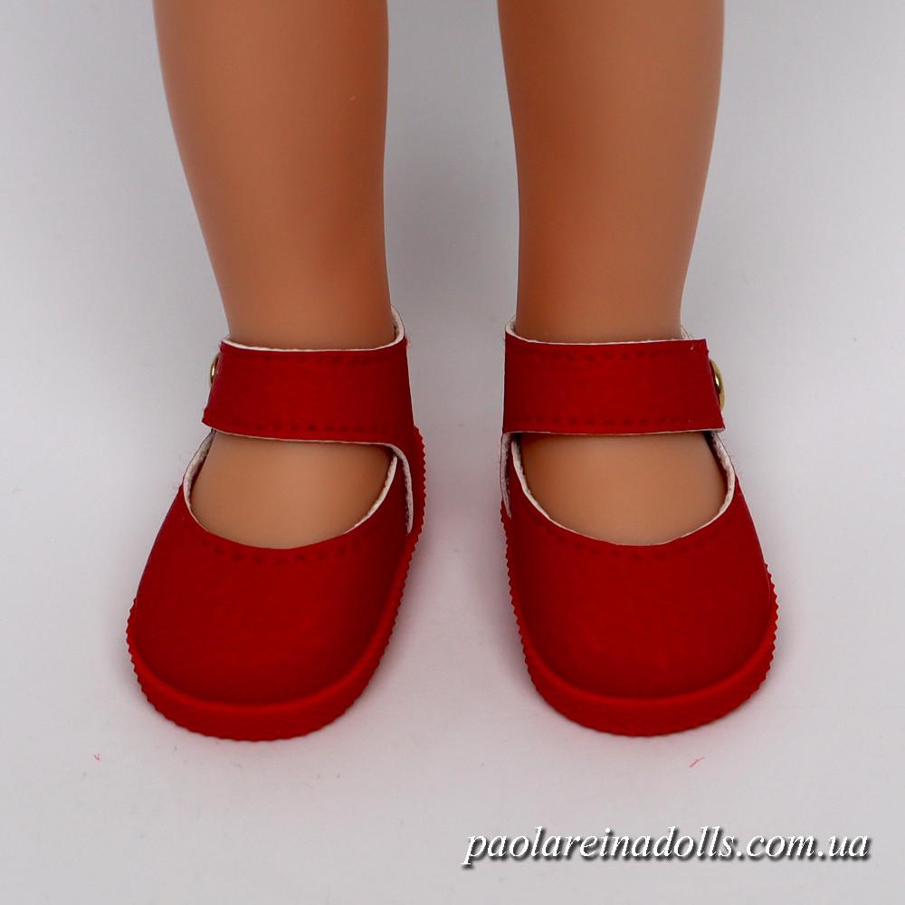 Туфли красные с ремешком для кукол Паола Рейна