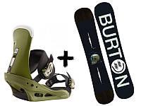 Сноуборд Burton Instigator + Крепления Freestyle Re:Flex Comp On Green 2020