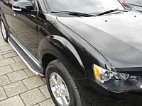 Mitsubishi Outlander 2013+ и 2015+ гг. Боковые площадки Fullmond (2 шт, алюм.)