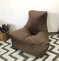 Велюровое кресло Босс с функцией Антикоготь. АКЦИЯ Молочный шоколад