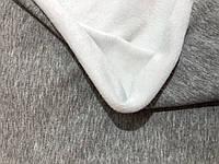 Трехнитка на меху Белая с серым