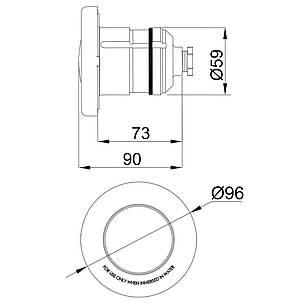 Прожектор светодиодный AstralPool LumiPlus Mini 52125 RGB (нержавеющая накладка) 4 Вт, фото 2