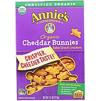Запеченные крекеры  с чеддером в форме кроликов ( Baked Crackers), Annie's Homegrown, 213 г.