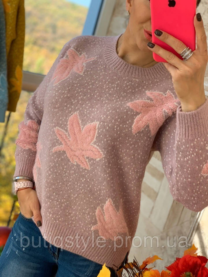 Жіночий светр вільного крою з малюнком